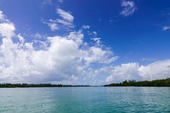 Idyllic tropical sea and turquoise water Royalty Free Stock Photography