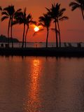 Idyllic tropical sunset Royalty Free Stock Images