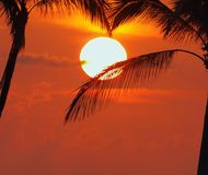 Idyllic tropical sunset Royalty Free Stock Photography