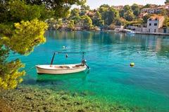 Idyllic turquoise beach in Splitska Stock Photos