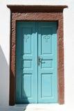 Idyllic turquoise doorway Stock Image