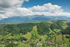 Idyllic valley in the Romanian mountains Stock Image