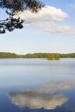 Idyllic vertical lakescape Royalty Free Stock Photos