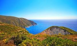 Idyllic view of beautiful Navagio Beach on Zakynthos Island Royalty Free Stock Image