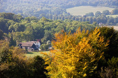 Idyllic view of English countryside in autumn Royalty Free Stock Image