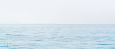 Idyllic view of the ocean and sky. Blue sea background. Copyspace for any text stock photography
