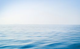 Idyllic view of the ocean and sky. Blue sea background. Copyspace for any text royalty free stock images
