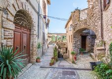 Idyllic view in Rocchette, old rural village in Rieti Province, Lazio Italy, royalty free stock image