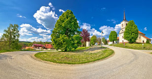 Idyllic village of Apatovec in Croatia Royalty Free Stock Images