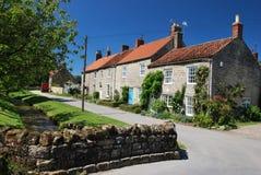 Idyllic village cottages in summer Stock Photo