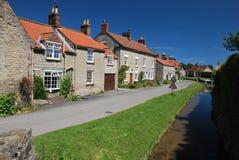 Idyllic village cottages in summer Stock Image