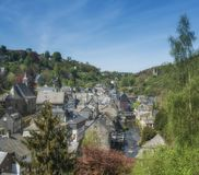 Monschau,Eifel,North Rhine westphalia,Germany. Idyllic Village of Monschau in Eifel national Park,North Rhine westphalia,Germany royalty free stock photo