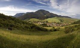 Idyllic village in Mountains Stock Image