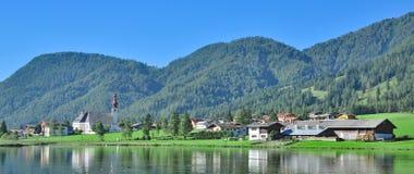 Sankt Ulrich am Pillersee,Tirol,Austria. The idyllic Village of Sankt Ulrich am Pillersee near Kitzbuehel,Tirol,Austria Stock Photo