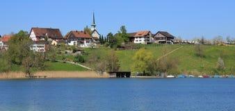 Idyllic village Seegraben stock photography