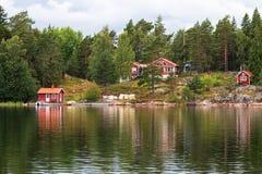 Idyllic village in Stockholm archipelago. Stock Photos