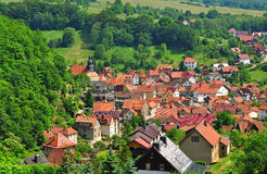 Idyllic Village in Thuringia,Germany Royalty Free Stock Image
