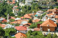 The idyllic village in Troodos mountains. Stock Photography