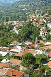 The idyllic village in Troodos mountains. Stock Photo