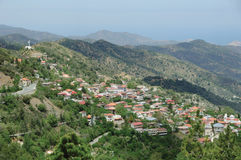 The idyllic village in Troodos mountains Royalty Free Stock Photos