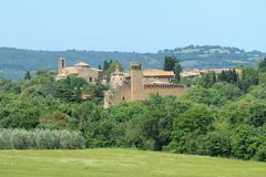 Idyllic village, Tuscany Royalty Free Stock Images
