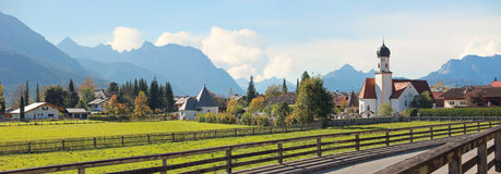 Idyllic wallgau village in the bavarian alps Royalty Free Stock Photos