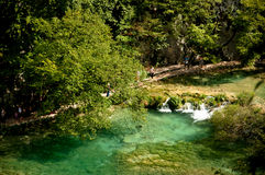 Idyllic water in Plitvice nature reserve Stock Photography
