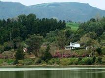 Idyllic waterside scenery Stock Image