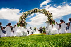 Idyllic wedding Stock Photo