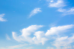 Idyllic white fluffy clouds in the blue sky Royalty Free Stock Photography