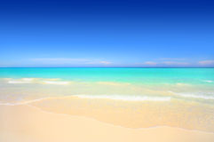 Idyllic white sand tropical beach Stock Photo