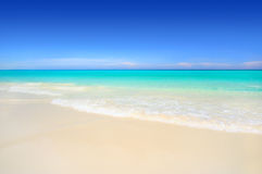 Idyllic white sand tropical beach Royalty Free Stock Photo