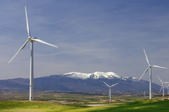 Idyllic windmills Royalty Free Stock Image