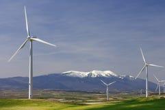 Idyllic windmills royalty free stock image