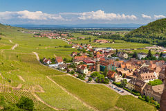 idyllic Wine Village of Kaysersberg in Alsace Stock Photos