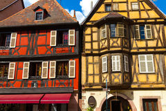 idyllic Wine Village of Kaysersberg in Alsace Stock Photography