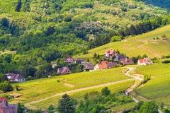 idyllic Wine Village of Kaysersberg in Alsace Royalty Free Stock Photography