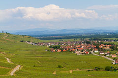 idyllic Wine Village of Kaysersberg in Alsace Royalty Free Stock Photography