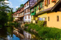idyllic Wine Village of Kaysersberg in Alsace Royalty Free Stock Photos