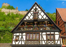 idyllic Wine Village of Kaysersberg in Alsace Royalty Free Stock Images