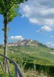 Village of La Morra,Piedmont,Italy stock images