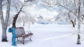Idyllic  Winter Background Stock Images