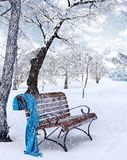 Idyllic  Winter Background. Idyllic Winter Background 3D Rendering Royalty Free Stock Image