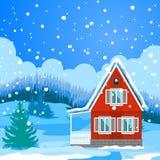 Idyllic winter landscape Stock Image