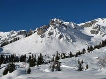 Idyllic winter landscape, mountains Stock Photos