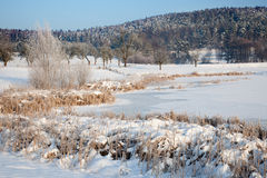 Idyllic winter landscape in Thuringia Royalty Free Stock Photo