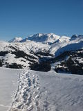 Idyllic Winter Scenery Near Gstaad Royalty Free Stock Images