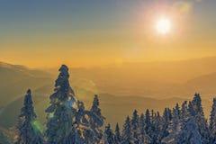 Idyllic winter sunset scenery Royalty Free Stock Images