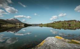 Idylliczna natura Norwegia obrazy royalty free