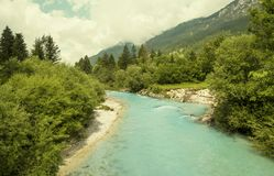 Idylliczna natura Slovenia obrazy stock